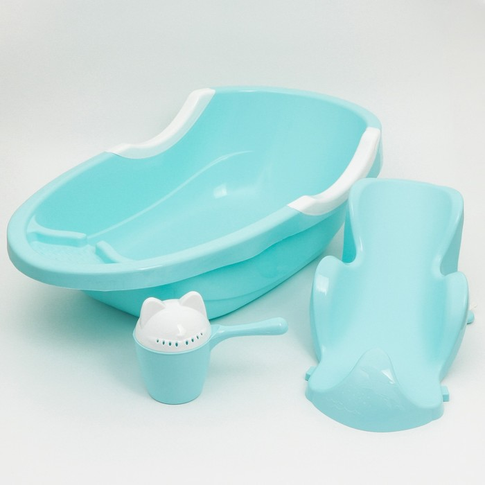Набор для купания детский, цвет голубой