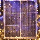 """Гирлянда """"Занавес"""" уличная, УМС, 2 х 3 м, 3W LED(IP65-O)-760-220V, мерцание, нить тёмная, свечение тёплое белое"""