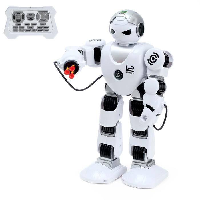 """Робот радиоуправляемый  """"Зет-Альфа"""", ходит, свет и звук, стреляет, русский чип"""