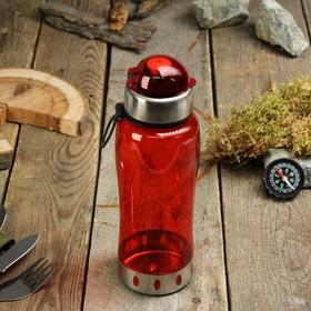 Бутылка для воды 700мл, вставка из металла, микс 7*24см
