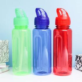 """Бутылка для воды """"Бараолт"""" с поильником, 650 мл, 24 х 7 см, микс в Донецке"""