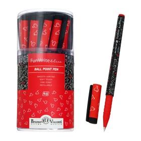 Ручка шариковая FunWrite «Ягодки-малинки», узел 0.5 мм, синие чернила, матовый корпус Silk Touch