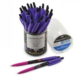 Ручка шариковая автоматическая HappyClick «Сова», узел 0.5 мм, синие чернила, матовый корпус Silk Touch