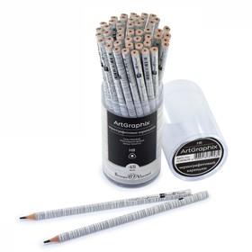 Карандаш чернографитный 3 мм ArtGraphix «Березки», НВ, трёхгранный, пластиковый корпус