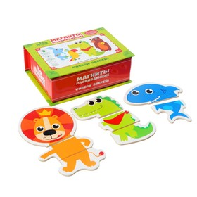 """Educational magnets """"Collect animals"""" (set of 24pcs)"""
