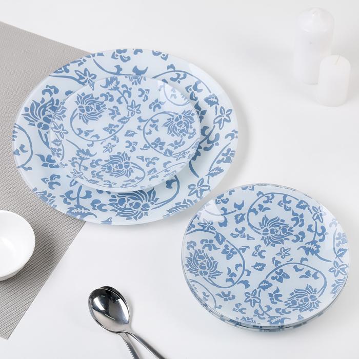 "Сервиз столовый на 6 персон ""Адель"": 6 тарелок 20 см, 1 тарелка 30 см"