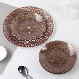 "Сервиз столовый на 6 персон ""Восток"": 6 тарелок 20 см, 1 тарелка 30 см"