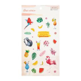 "Stickers plastic ""Tropical"", 10 × 16 cm"