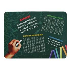 Накладка на стол пластик А3, Обучающая, 430 х 320 мм, 400 мкм, НПД-2, «Таблица Умноженния»
