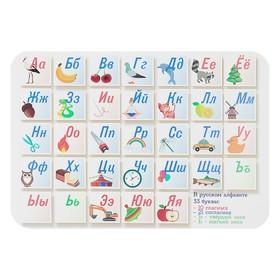 Накладка на стол пластик А4, Обучающая, 330 х 230 мм, 400 мкм, НПД-1, «Азбука»