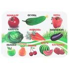 Накладка на стол для творчества, пластиковая, 330х230 мм, «Фрукты, овощи»