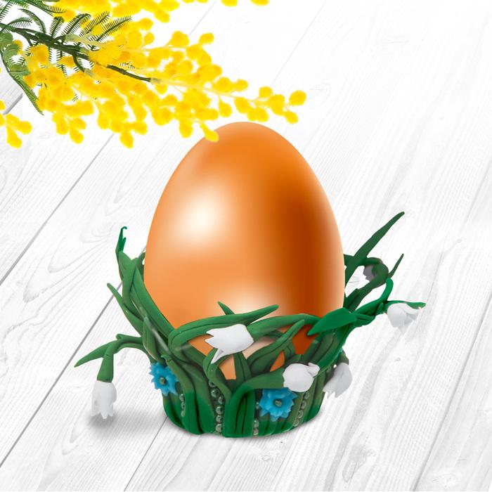 """Подставка для яиц из полимерной глины, набор для создания """"С Пасхой"""""""