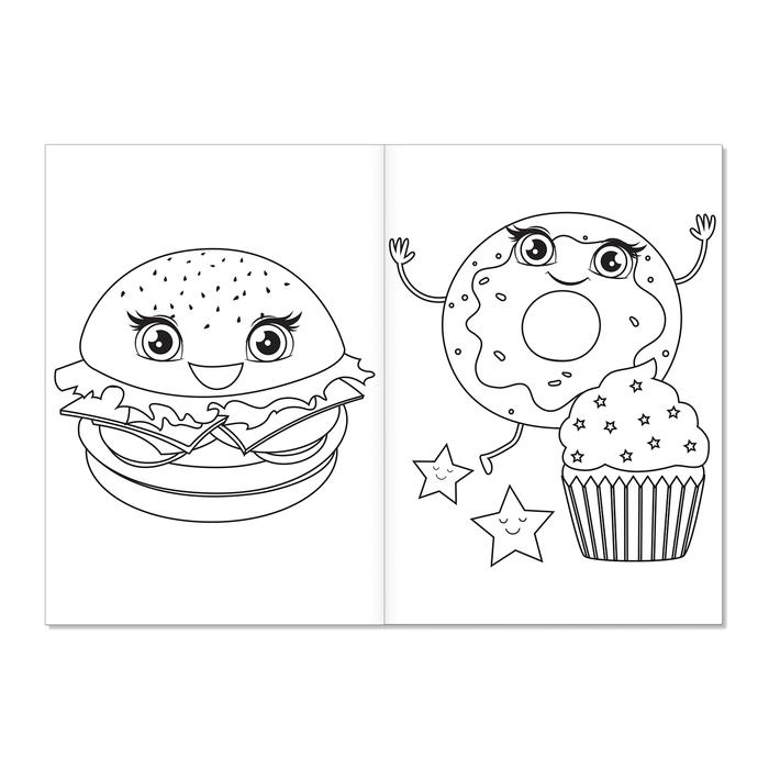 раскраска озорные сладости а5 12 страниц