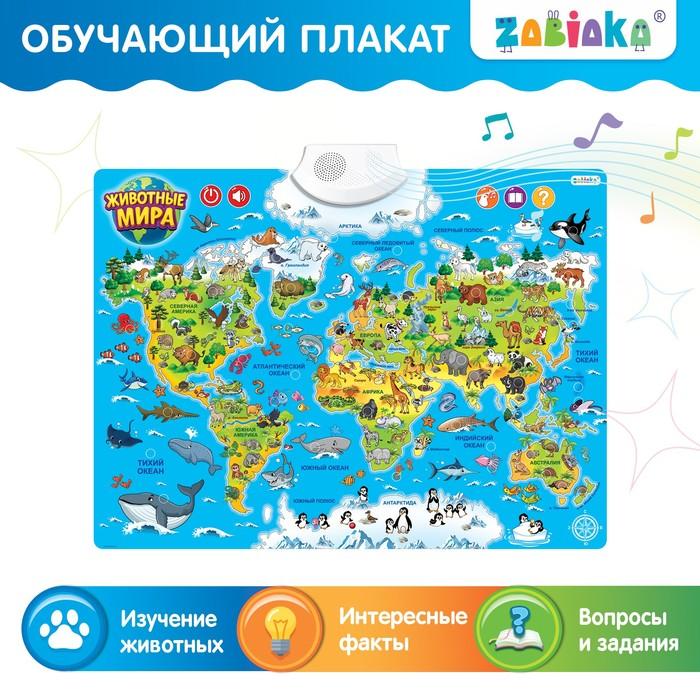 Обучающий плакат «Животные мира», звуковые эффекты - фото 105605305