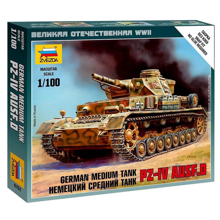 """Сборная модель """"Немецкий средний танк Т-IV"""""""