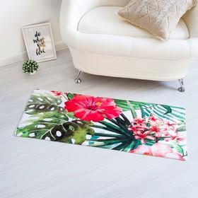 """Carpet Ethel """"Leaves"""" 45*120 cm, velour, foam 400g/m2"""