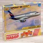 """Сборная модель """"Самолёт """"Суперджет-100"""""""
