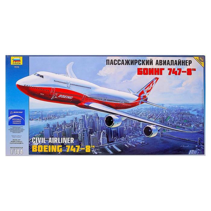 Сборная модель «Пассажирский авиалайнер Боинг 747-8»