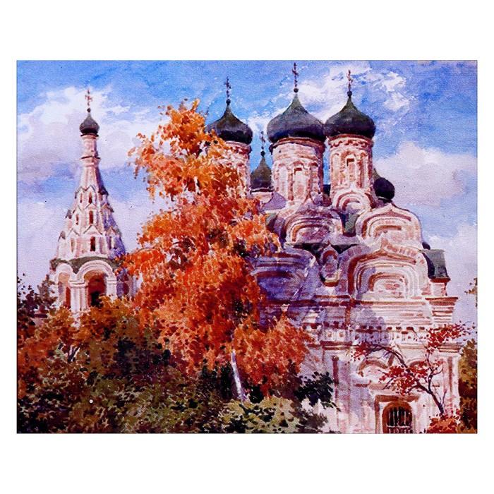 """Алмазная мозаика """"Собор"""" 50 × 40 см, 38 цветов"""