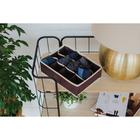 Органайзер для белья «Ваниль», 12 ячеек, 30×19×10 см, цвет коричнево-бежевый - фото 191238255