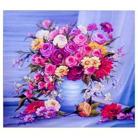 Алмазная мозаика «Красочный букет» 40 × 40 см, 35 цветов