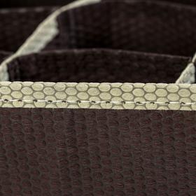 Органайзер для белья «Ваниль», 18 ячеек, 33×24×12 см, цвет коричнево-бежевый - фото 4640952