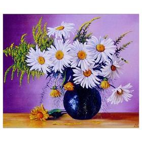 Алмазная мозаика «Ваза с цветами» 40 × 30 см, 31 цвет