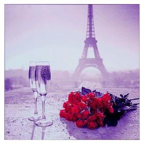 Алмазная мозаика «Свидание в Париже» 35 × 35 см, 30 цветов