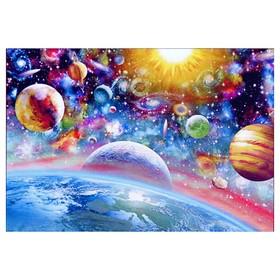 Алмазная мозаика «Космический микс» 45 × 30 см, 37 цветов