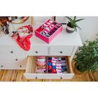 Органайзер для белья «Ваниль», 18 ячеек, 33×24×12 см, цвет розово-бежевый - фото 4640984