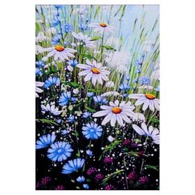 Алмазная мозаика «Ромашковое настроение» 20 × 29 см, 25 цветов