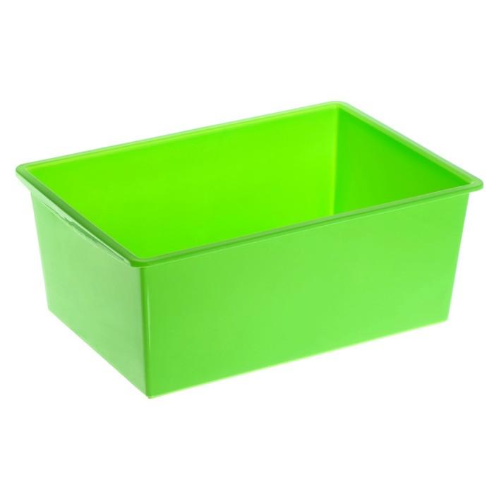 Ящик универсальный, объём 30 л, цвет салатовый - фото 308335010