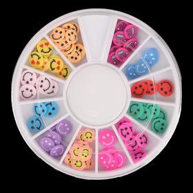 Фимо-дизайн для ногтей 'Смайлики', цвет МИКС (комплект из 5 шт.)