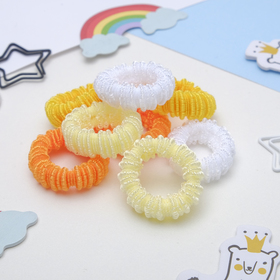 "Elastic band for hair ""Moroshka"" (set of 100pcs) 2.5 cm yellow shades"