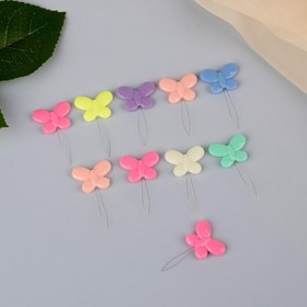 "Newdevel ""Butterfly"", the 3.5 x 2.2 x 0.2 cm, 10 PCs, MIX color"