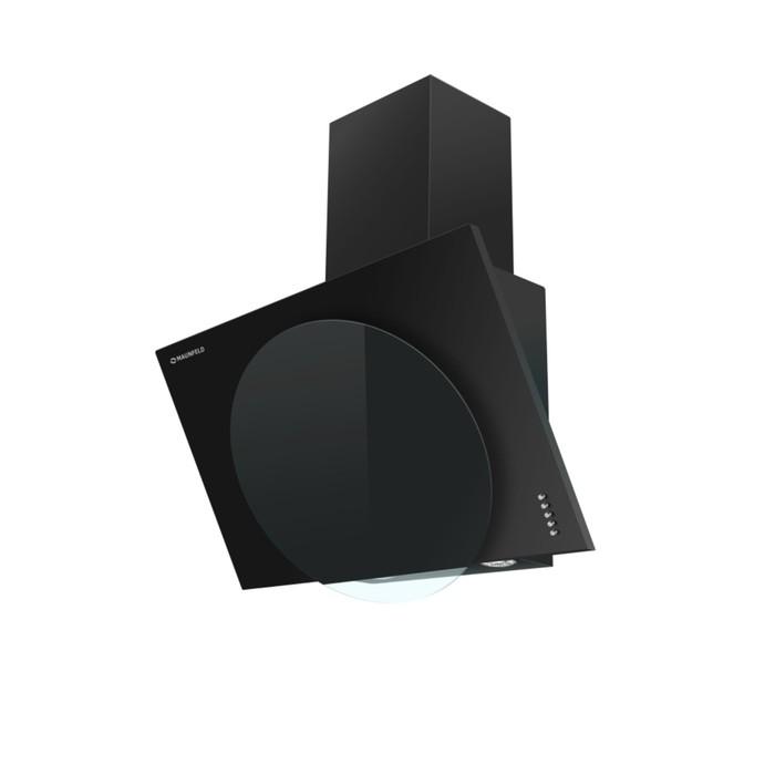 Вытяжка Maunfeld Tower L (PUSH) 50, черное стекло