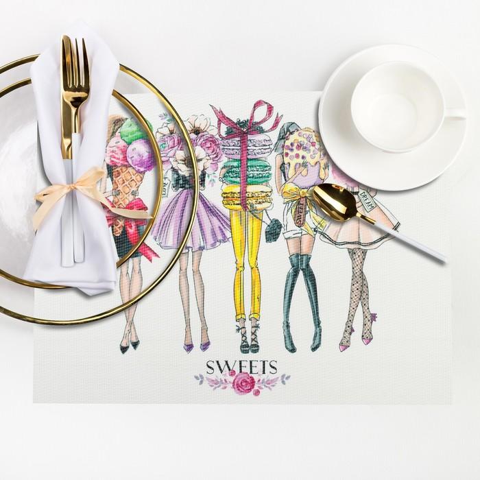 """Салфетка на стол """"Girls sweets"""" 29*40 см"""