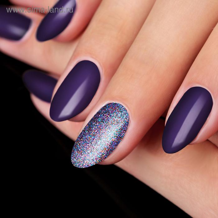 Жидкий глиттер для декора ногтей «Радужная россыпь», с аппликатором, цвет фиолетовый