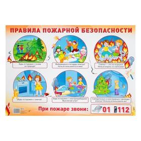 """Демонстрационный плакат """"Правила пожарной безопасности"""" А2"""