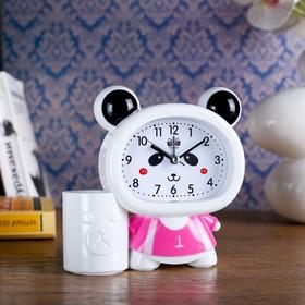 "Будильник ""Панда"",13.5х14.5 см, микс"