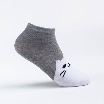 Носки детские, цвет серый, размер 16-18