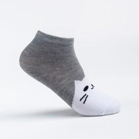 Носки детские, цвет серый, размер 14-16