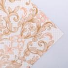 Бумага упаковочная глянцевая «Узоры», золотая краска, 70 × 100 см
