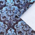 Бумага упаковочная глянцевая «Синий узор», 70 × 100 см