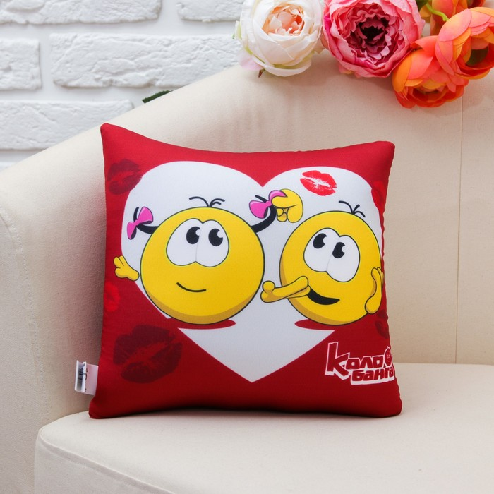 "Игрушка-подушка антистресс  ""Любовь"" поцелуи"