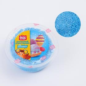Шариковый пластилин застывающий 80 мл, голубой