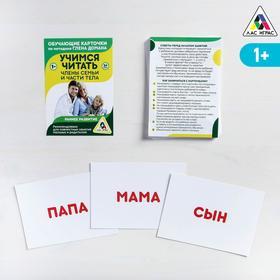 Обучающие карточки по методике Глена Домана «Учимся читать. Части тела и члены семьи»