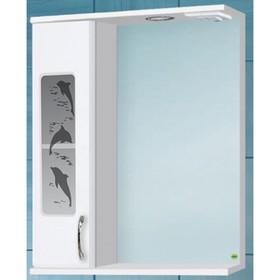 Зеркало-шкаф Панда 500 Дельфин, со светом, левое, белое арт. 10826