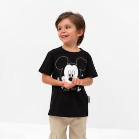 """Футболка детская Disney """"Mickey Mouse"""", рост 110-116 (32), чёрный"""
