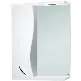 """Зеркало-шкаф """"Виктория 650 с подсветкой """" левое, белое арт.10568"""